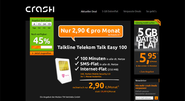 Crash Smartphone-Tarif
