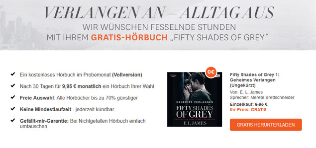 Gratis Hörbuch: Fifty Shades Of Grey