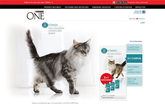purina one produktprobe 3 wochen kostenlos katzenfutter testen. Black Bedroom Furniture Sets. Home Design Ideas