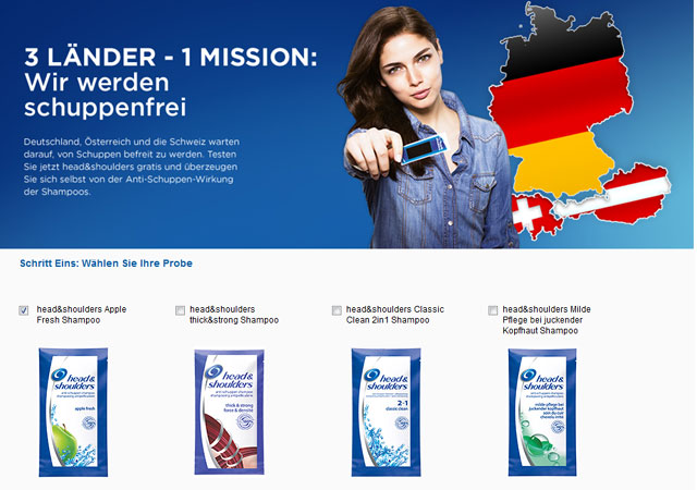 Head & Shoulders kostenlose Produktprobe