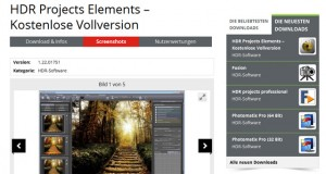 Foto Software HDR Projects Elements kostenlos downloaden