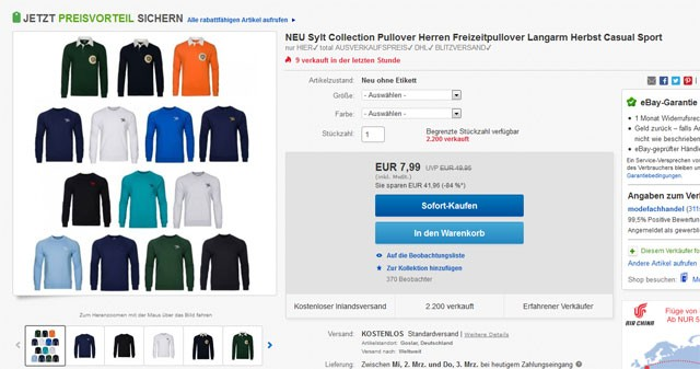 Sylt Collection Herren Pullover