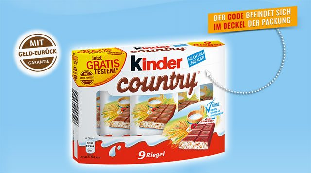 Kinder Country gratis