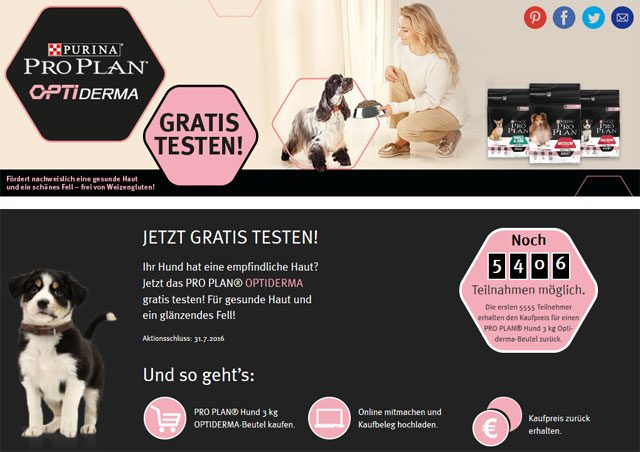 3 kg purina pro plan optiderma hundefutter kostenlos testen. Black Bedroom Furniture Sets. Home Design Ideas
