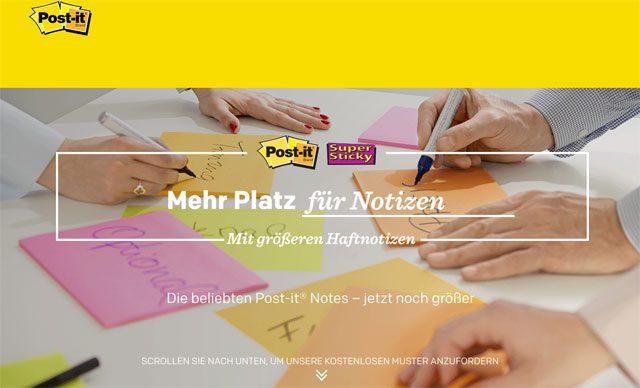 Post it Haftnotizen kostenlos