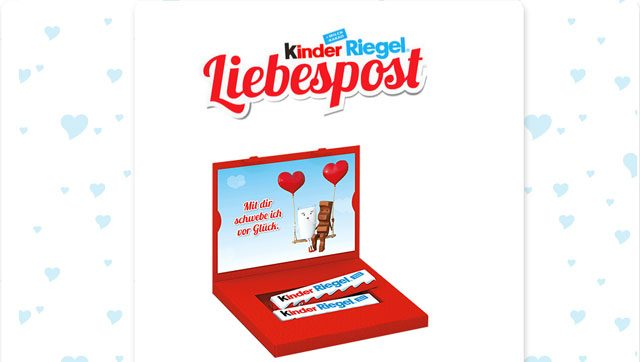 kinder Riegel Liebespost
