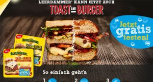 Leerdammer Toast and Burger gratis