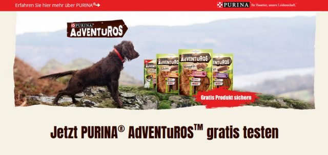 PURINA® AdVENTuROS™ gratis testen