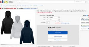 Fruit of the Loom Hoodie Jacke
