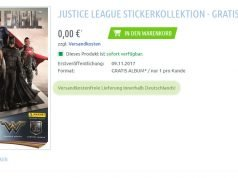 Justice League Stickeralbum von Panini